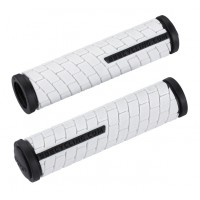 BBB Gripuri  DualGrip BHG-0617 125 mm alb/negru