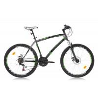 Bicicleta Robike Cougar DD 26 gri/verde 2016-480 mm