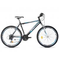 Bicicleta Robike Cougar 26 negru/albastru/alb 2016-480 mm