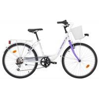 Bicicleta Robike Starlet 24 alb/mov 2017