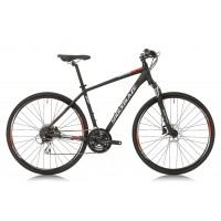 Bicicleta Shockblaze Faster Altus negru mat 2018 56 cm