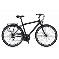 Bicicleta Shockblaze Beverly 21v Man negru mat 2018 52 cm