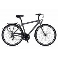Bicicleta Shockblaze Beverly 7v Man gri mat 2018 56 cm
