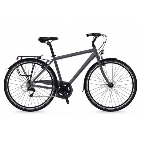 Bicicleta Shockblaze Beverly 7v Man gri mat 2018 52 cm