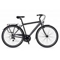 Bicicleta Shockblaze Lucky 6v Man gri mat 2018 54 cm