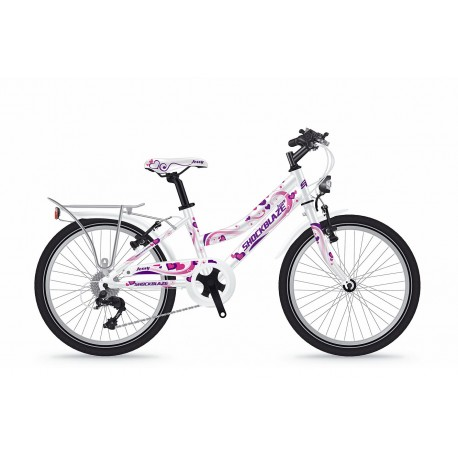 Bicicleta Shockblaze Jessy 20 6v alba 2018