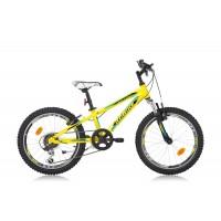 Bicicleta Robike Hat Trick 20 galben/negru/albastru 2016