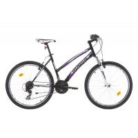 Bicicleta Robike Cougar Lady 26 negru/alb/violet 2017-460 mm