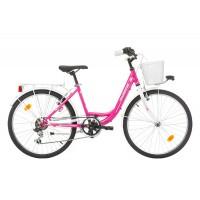 Bicicleta Robike Starlet 24 roz/alb 2017