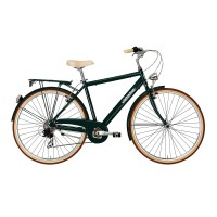Bicicleta Adriatica City Retro Man 28 verde inchis 55 cm