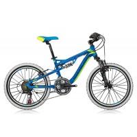 Bicicleta Shockblaze Warrior 20 FSP albastru/verde 2016