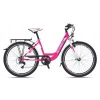 Bicicleta Sprint Starlet 24 Nexus 3 roz/alb 2018
