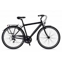 Bicicleta Shockblaze Lucky 6v Man negru mat 2018 54 cm