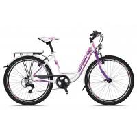 Bicicleta Sprint Starlet 24 Nexus 3 alba 2018