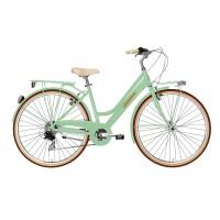 Bicicleta Adriatica City Retro Lady 28 verde 45 cm