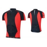 Tricou ciclism Force T12 negru/rosu M