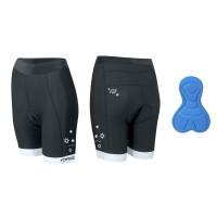 Pantaloni scurti ciclism Force Kid pentru copii 128-140 cm negri