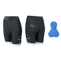 Pantaloni scurti ciclism Force Kid pentru copii 140-153 cm negri