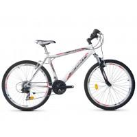 Bicicleta Robike Cougar 26 alb/negru/rosu 2016-480 mm