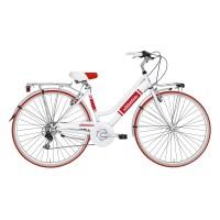 Bicicleta Adriatica Panarea Donna 28 alb/rosu 45 cm