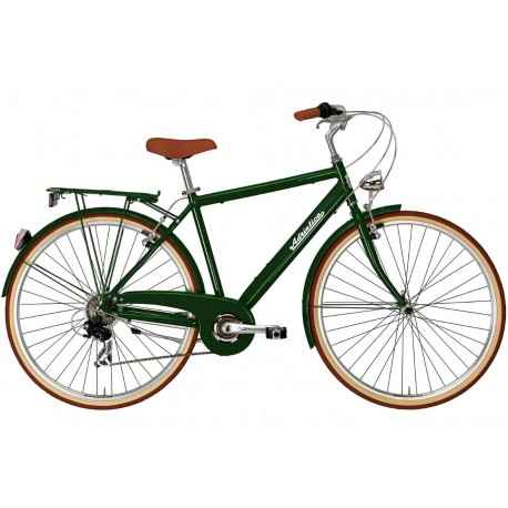 Bicicleta Adriatica City Retro Man verde 2018-550 mm