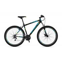Bicicleta Sprint Tornado 29 Negru Matt Cyan/Verde 2018-530 mm