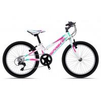 Bicicleta Sprint Calypso 20 alb/roz/albastru 2018