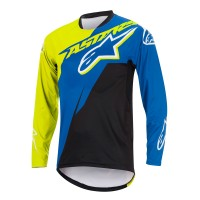 Bluza Alpinestars Sight Contender Long Sleeve Jersey royal blue/acid yellow XXL