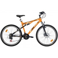 Bicicleta Bikesport Full 26 mango/negru -483 mm