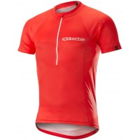 Tricou Alpinestars Elite S/S Jerdey red/white M