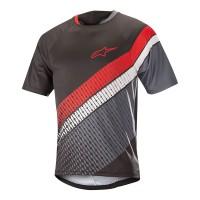 Tricou Alpinestar Predator SS Jersey black/steel gray/red L