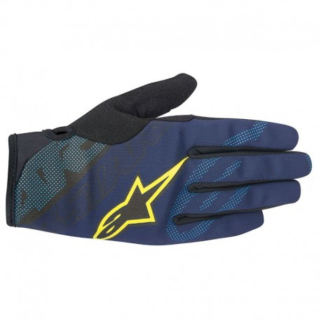 Manusi Alpinestars Stratus deep blue/acid yellow XL