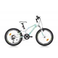 Bicicleta Robike Hat Trick 20 alb/verde/albastru 2016