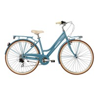 Bicicleta Adriatica City Retro Lady albastra 450mm