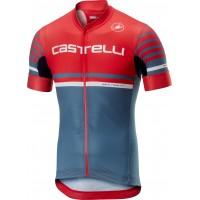 Tricou Castelli Free AR 4.1 Rosu/Albastru S
