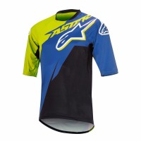 Bluza Alpinestars Sight Contender Short Sleeve Jersey royal blue/acid yellow XL