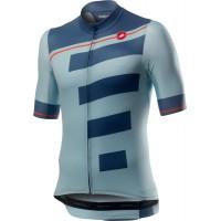 Tricou cu maneca scurta Castelli Trofeo Albastru deschis/bleumarin L