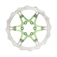 Disc frana Reverse Discrotor 160mm aluminiu/otel verde deschis