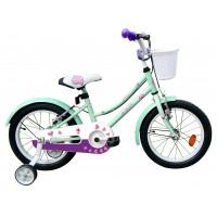 Bicicleta copii Robike Alice 16 turquise/violet