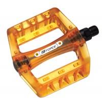Pedale BMX Force plastic transparent portocaliu