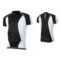 Tricou ciclism Force T12 negru/alb L