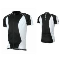 Tricou ciclism Force T12 negru/alb XL