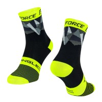 Sosete Force Triangle negru/fluo/gri L-XL