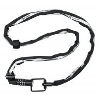Lacat Force Multi Chain cu cifru 120cm/4mm Negru