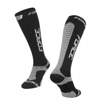 Sosete Force Athletic PRO Compress Negru/Alb S/M