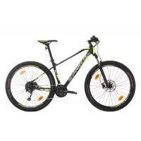 Bicicleta Sprint Apolon 27.5 NegruMat/Gri/VerdeNeon 2020 - 400 mm