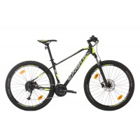 Bicicleta Sprint Apolon 29 NegruMat/Gri/VerdeNeon 2020 - 440 mm