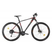 Bicicleta Sprint Maverick Pro 27.5 NegruMat/Gri/Rosu 2020 400mm