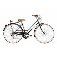 Bicicleta Adriatica Rondine Lady 28 6V neagra 45 cm