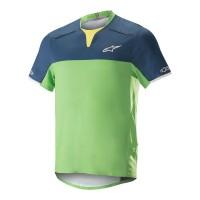 Tricou Alpinestar Drop Pro S/S Jersey poseidon blue/summer green M